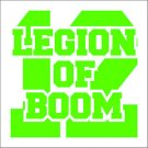 "2 Pack of Custom Seattle Seahawks ""Legion of BOOM"" Vinyl Decals / Stickers"