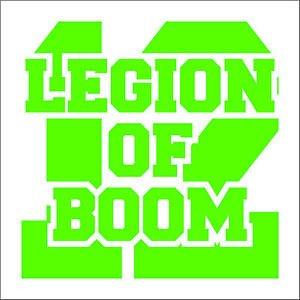 "2 Pack of Custom Seattle Seahawks ""Legion of BOOM"" Vinyl Decals / Stickers"