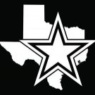 Dallas Texas Star Vinyl Decals / Stickers 2(TWO) Pack