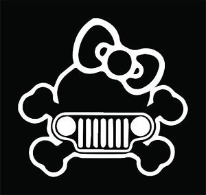 Kitty Jeep Vinyl Decals / Stickers 2(TWO) Pack