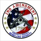 2nd Amendment AR 15 Printed Vinyl Decal / Sticker