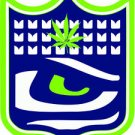 Seattle Seahawks Marijuana Shield Vinyl Decal / Sticker