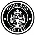 Guns and Coffee Custom Vinyl Decals / Stickers 2(TWO) Pack