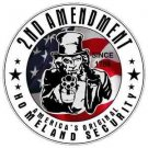 2nd Amendment Uncle Sam Homeland Security Vinyl Decal / Sticker