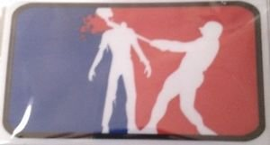 Zombie MLB Vinyl Decal / Sticker