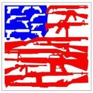 2nd Amendment Gun Flag Printed Vinyl Decal / Sticker
