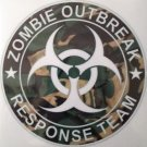 Zombie Outbreak Response Team Camo Vinyl Decal / Sticker