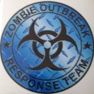 Zombie Outbreak Response Team Blue Diamond Vinyl Decal / Sticker