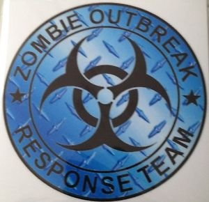 Zombie Outbreak Response Team Blue Diamond Vinyl Decal / Sticker