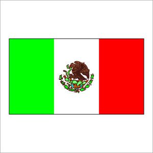 Mexico Flag Vinyl Decal Sticker