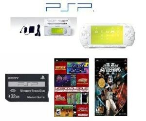 """Sony PSP """"""""Limited Edition"""""""" Ceramic White """"""""Star Wars Bundle"""""""" - 22 Games Hot Games"""