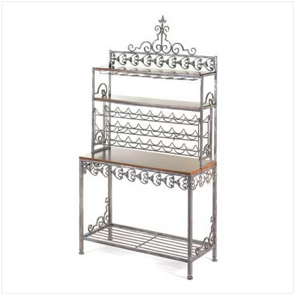 METAL/WOOD WINE RACK