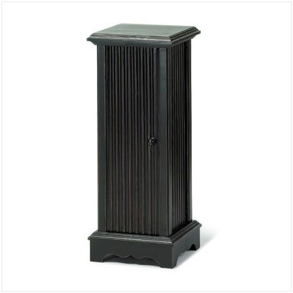 DISTRESS BLK PEDESTAL CD TOWER
