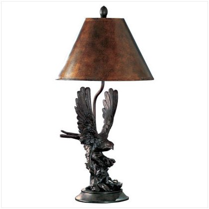 ALAB EAGLE ON BRANCH LAMP