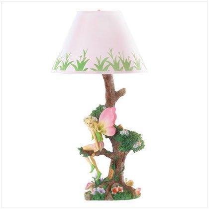FAIRY SITTING ON TREE LAMP