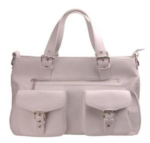 Alexandra Jordan Multi-Pocket Leather Satchel