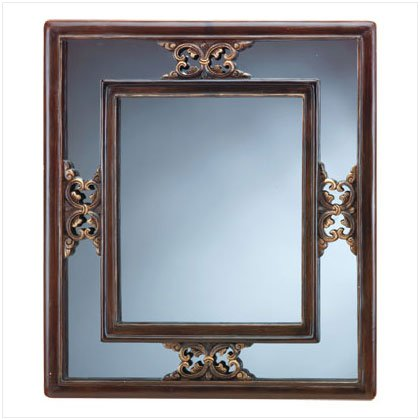 SIMULATED WOOD WALL MIRROR