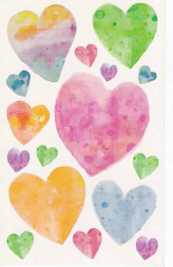 Maxi Vellum Hearts Stickers