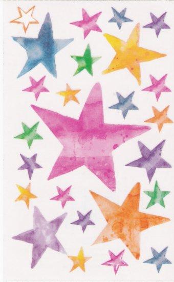 Maxi Vellum Star Stickers