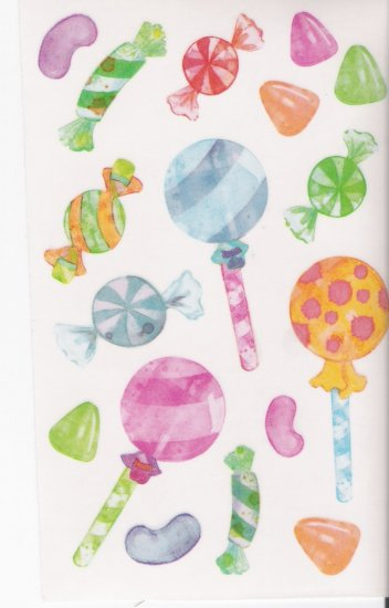 Maxi Vellum Candy Stickers