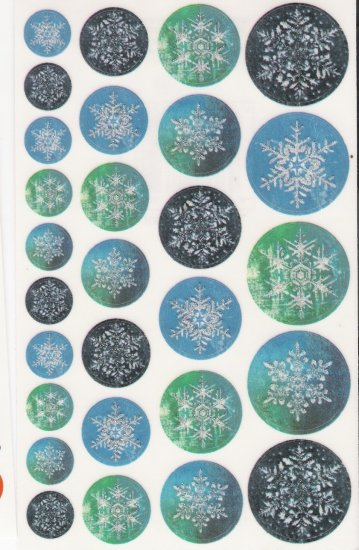 Maxi Blue Snowflakes Stickers