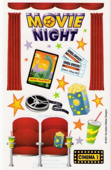 Maxi Movie Night Stickers