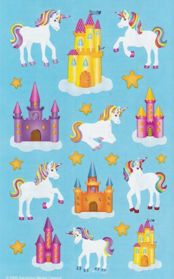 Maxi Unicorn Stickers