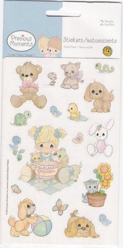 Precious Moments Popcorn Stickers