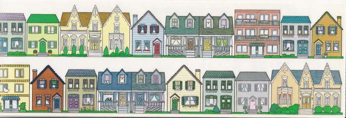 Houses Stickers