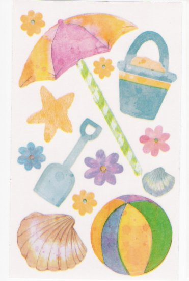 Beach Items Stickers