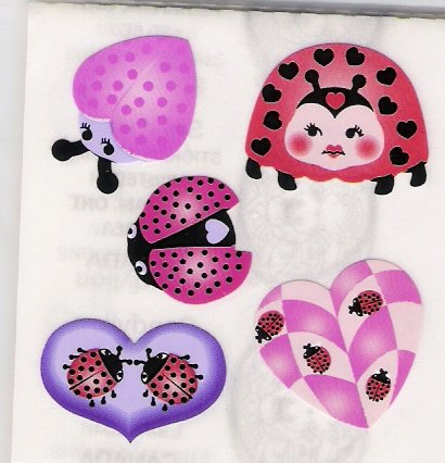 Pink Heart Ladybugs