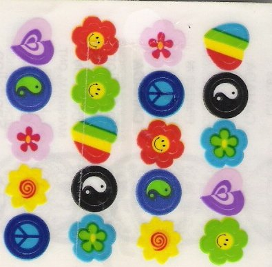 Mini Peace Signs 20 per sheet