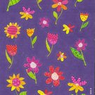 Maxi Purple Flowers