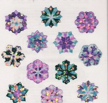 Purple Mini Snowflakes