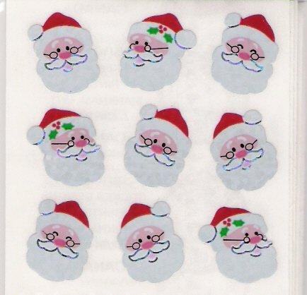 Glittery Mini Santa Heads