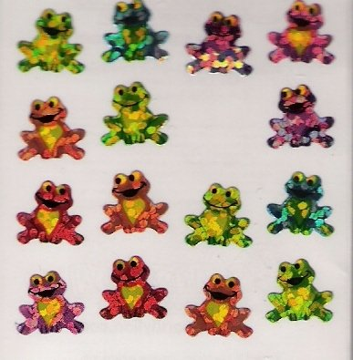 sitting glittery frogs