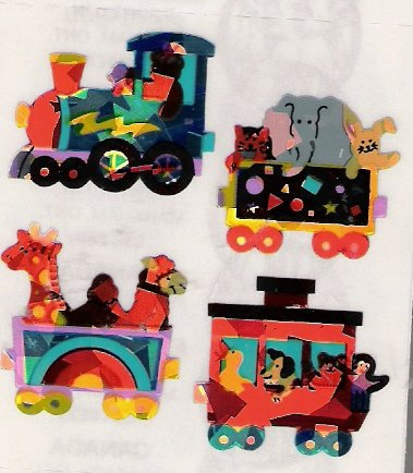 Toy Train with Animals