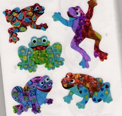 Leaping Glittery Frogs