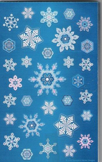 Maxi Deep Blue Snowflakes
