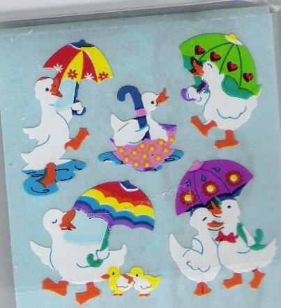 Ducks with Umbrellas