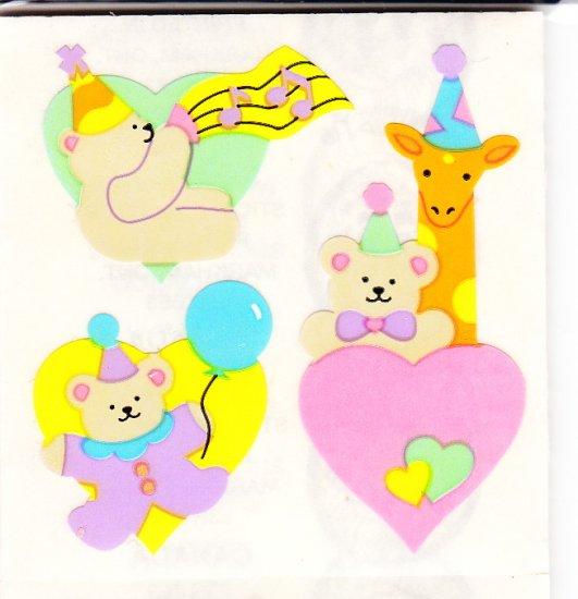 Bears Birthday Music and Balloons