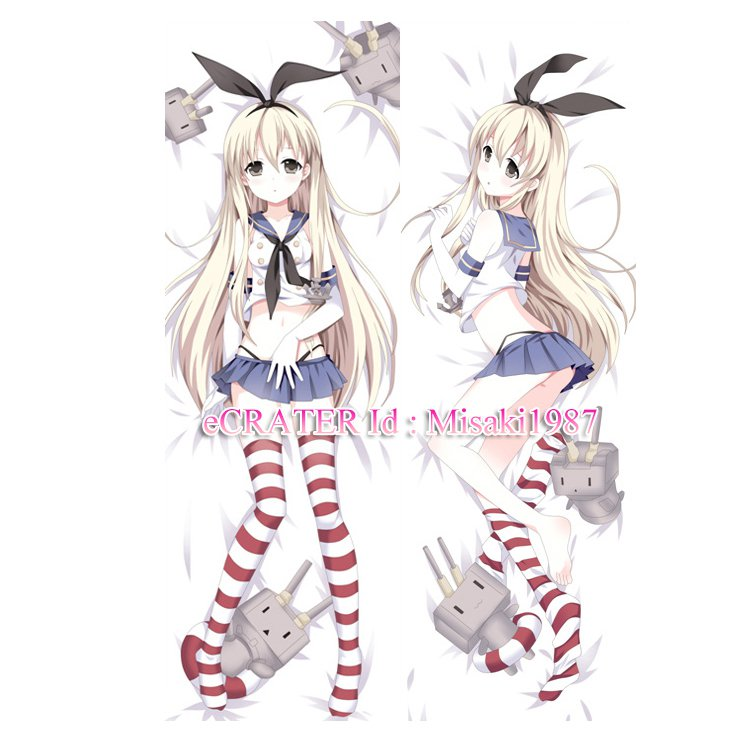 Kantai Collection KanColle Dakimakura Shimakaze Anime Hugging Body Pillow Case Cover 03