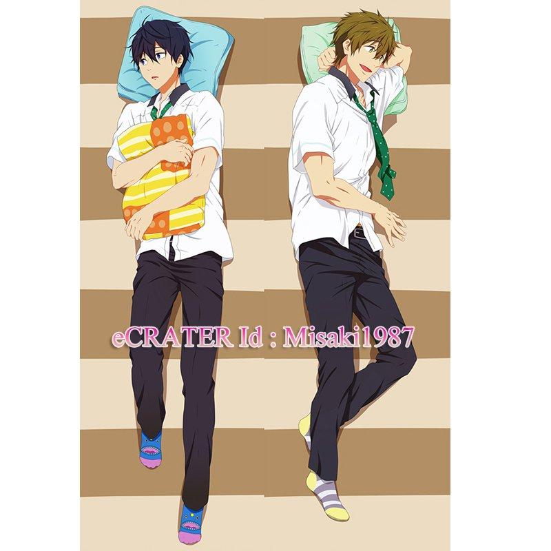 Free Dakimakura Haruka Nanase Makoto Tachibana Anime Hugging Body Pillow Case Cover 02