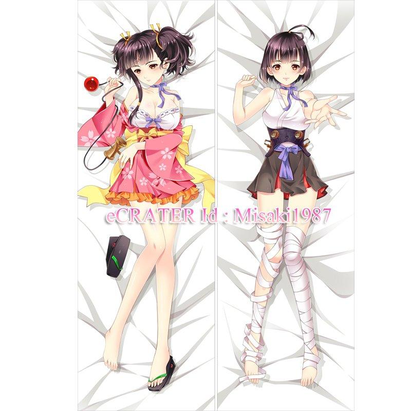 Koutetsujou no Kabaneri Dakimakura Mumei Anime Hugging Body Pillow Case Cover