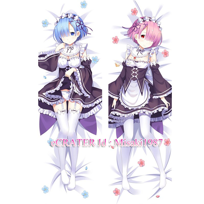 Re:Zero Dakimakura Rem Ram Anime Hugging Body Pillow Case Cover 02