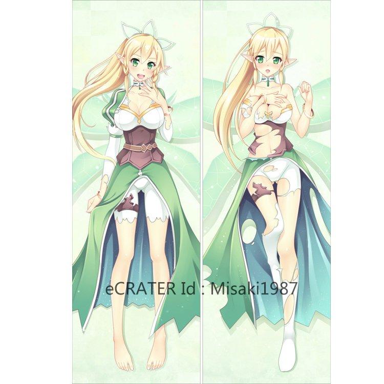 Sword Art Online Dakimakura Kirigaya Suguha Leafa Anime Girl Hugging Body Pillow Case Cover
