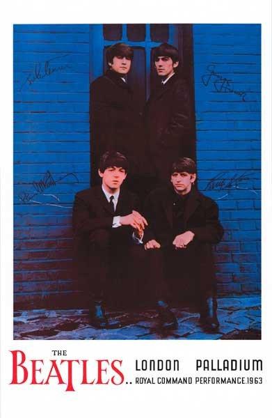 Beatles London Palladium 1963 Music Poster 11x17