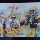 Brett Favre Green Bay Packers   Art Print 16x20