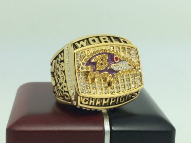 2000 Baltimore Ravens super bowl Championship Ring 11 Size With wooden box