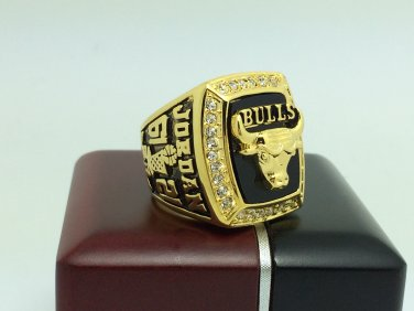 1991 Chicago Bulls  Basketball NBA Championship Ring 10 Size With wooden box